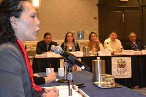 Senate Committee on Indian Affairs Staff Director Mary Pavel speaks to USET Board of Directors