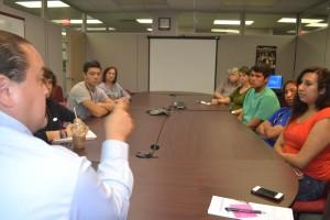 Vanderbilt Aspirnaut summer interns visit with USET