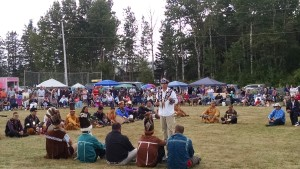 50th Ceremonial Indian Day at Sipayik. Installing of Passamaquoddy Chief Frederick J. Moore, III and Vice Chief, Vera J. Francis