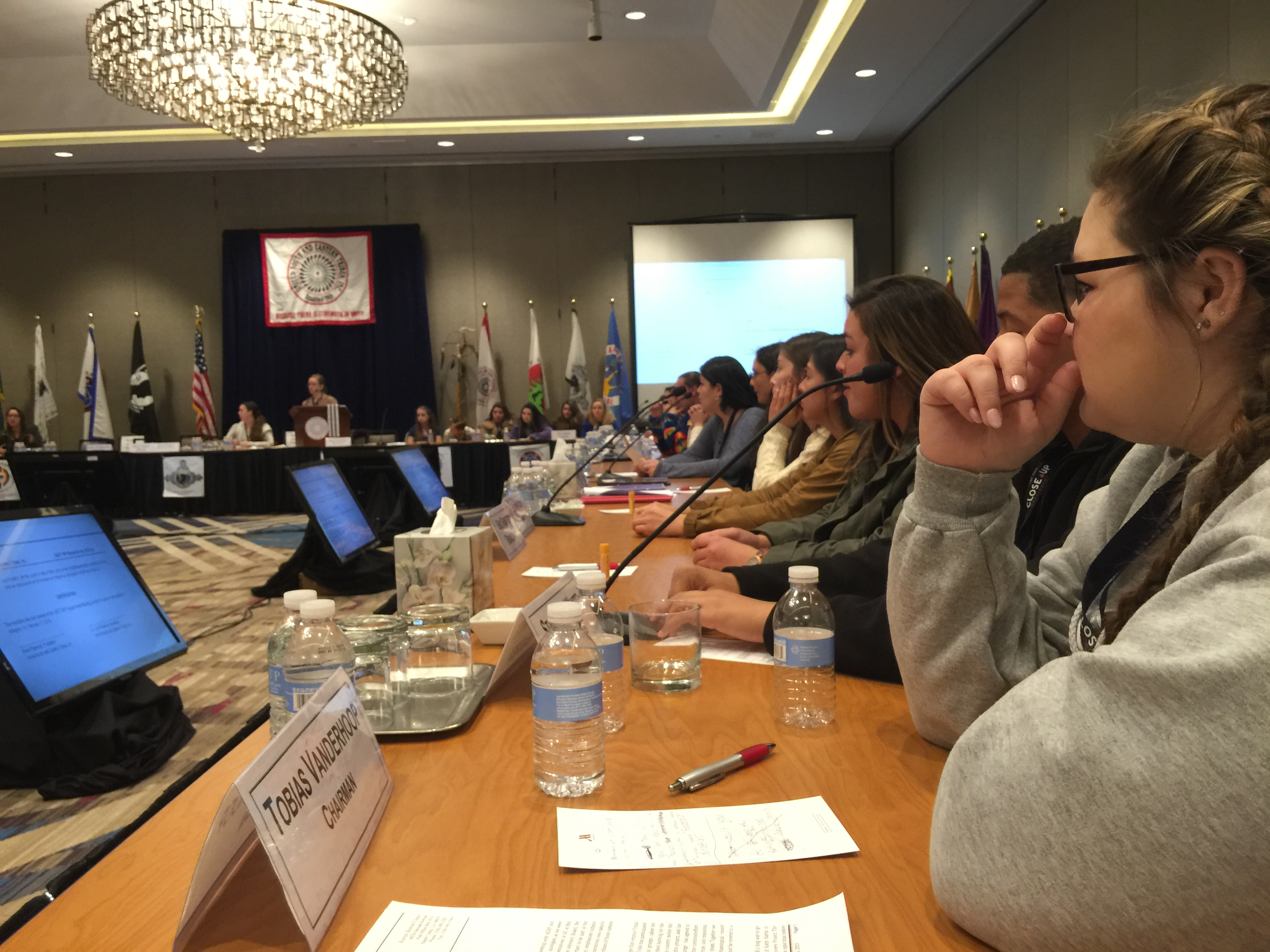 USET Close Up students participate in mock USET Board of Directors meeting