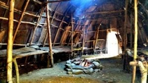 Institute for American Indian Studies rebuilding replicated Algonkian village 8/16/2018