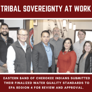 Eastern Band of Cherokee Indians submit finalized Water Quality Standards application to EPA officials 11/9/2018