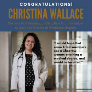 Medical dream no longer haunts groundbreaking student MBCI citizen Christina Wallace 5/22/2019