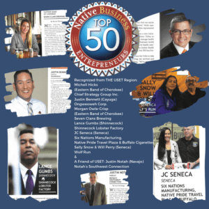 Native Business Top 50 Entrepreneurs – includes 6 USET Member Tribal Nation Citizens 5/17/2019