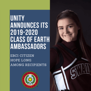 UNITY announces its 2019-2020 class of Earth Ambassadors – EBCI Citizen Hope Long among recipients 5/3/2019