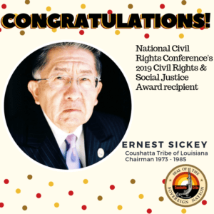Congratulations National Civil Rights Conference's  2019 Civil Rights & Social Justice Award recipient Ernest Sickey