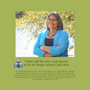 Tribal Chief Beverly Cook Named to NCAI Climate Action Task Force