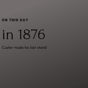 140 Years ago today