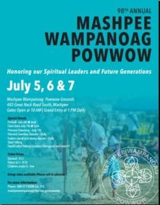 Mashpee Wampanoag Tribe 98th Annual Pow Wow July 5 – 7