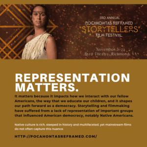 Third Annual Pocahontas Reframed: Storytellers Film Festival