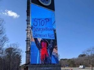 Shinnecock Sign Sends Message To Halt Ancient Grave Desecration