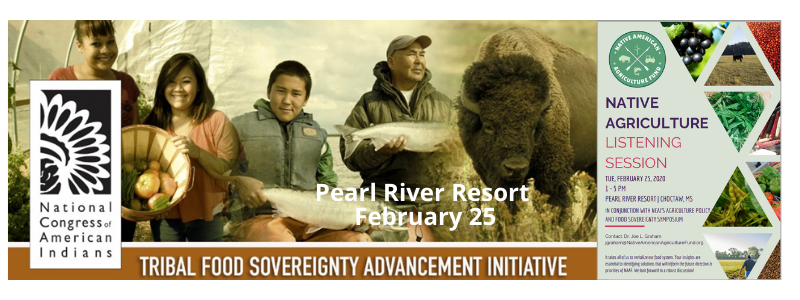 NCAI Food Sovereignty Pearl River