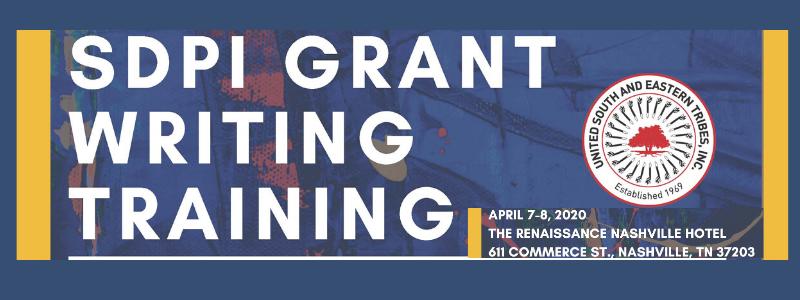 SDPI Grant Writing training 2020 mtg