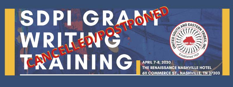 cancelled SDPI Grant Writing training 2020 mtg