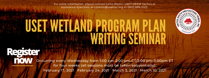 LB USET Wetland Program Plan Writing Seminar register now