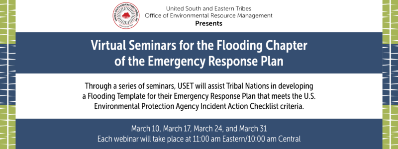Virtual Seminars for the Flooding Chapter of the Emergency Response Plan