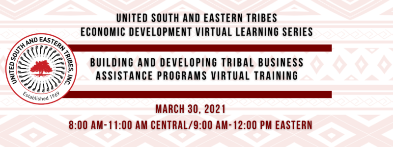 website graphic Building and Developing Tribal Business Assistance Programs Training Flyer